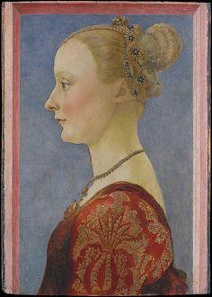 Piero del Pollaiuolo (Piero di Jacopo Benci) (Italian, 1441/42–1485/96). Portrait of a Woman, 1480. The Metropolitan Museum of Art, New York. Bequest of Edward S. Harkness, 1940 (50.135.3)
