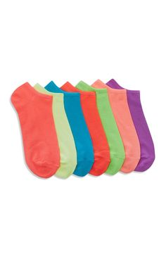 Primark - 7 Pack Colour Shoe Liner Socks