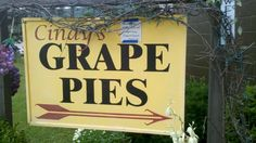 Stop in Naples, NY for a Grape Pie!