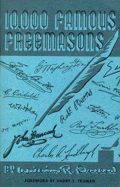 "Famous Freemasons By William R. Denslow - Volume 1 ""A-D"" Masonic Art, Masonic Lodge, Masonic Symbols, Prince Hall Mason, Famous Freemasons, Freemason Symbol, Jobs Daughters, Medieval Crafts, Eastern Star"