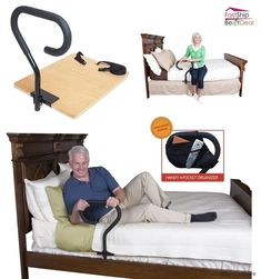 Bed Assist Rail Handle Elderly Support Home Patient Hospital Safety Mobility Aid Also known as the bed cane. Really helpful! Handicap Bathroom, Mobility Aids, Elderly Home, Home Protection, Adaptive Equipment, Home Safety, Assisted Living, Senior Living, Home Security Systems