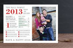 Family Year in Review Christmas Photo Cards by j.bartyn at minted.com