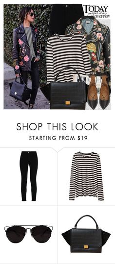 """2552. Blogger Style: Sincerely, Jules"" by chocolatepumma ❤ liked on Polyvore featuring Oris, STELLA McCARTNEY, Proenza Schouler, CÉLINE, Aquazzura, BloggerStyle, CasualChic and sincerelyjules"