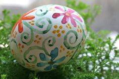 Watercolor Hand painted blown eggs