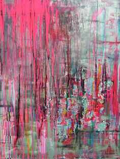 "Saatchi Art Artist: Pauline Remy; ""STREET PULSION""- love the colours in this :)"