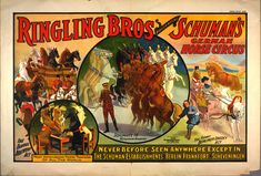 Ringling Bros presenting Schuman's German horse circus poster - ID: g98f980 - NYPL Digital Gallery