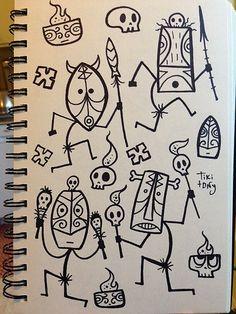 hawaiian tattoos designs and meanings Tiki Maske, Tiki Tattoo, Maori Tattoos, Tribal Tattoos, Art Indien, Tiki Faces, Tiki Art, Tiki Tiki, Tiki Totem