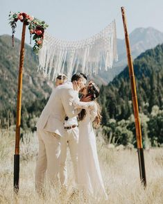 Rustic Macrame Wedding Backdrop for Altar by The House Phoenix (Image by India Earl) Wedding Tips, Boho Wedding, Wedding Day, Phoenix Images, Aisle Style, A Day To Remember, Wedding Ceremony Decorations, Macrame, Backdrops