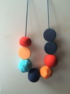 FIMO/polymer clay simple necklace
