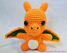 Crochet this little Charizard amigurumi!