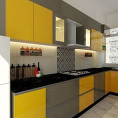 Kitchen at regency park Kitchen Design Gallery, Simple Kitchen Design, Kitchen Tiles Design, Interior Design Kitchen, Small Modern Kitchens, Modern Kitchen Interiors, Kitchen Cupboard Designs, Kitchen Modular, Square
