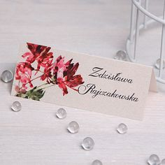 Winietki drukowane - glamour | Winietki na stół Zaproszenia Ślubne | studio Brzoza