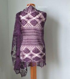 LUNA Crochet shawl pattern by Bernadette Ambergen/BernioliesDesigns, instant PDF download $5.99