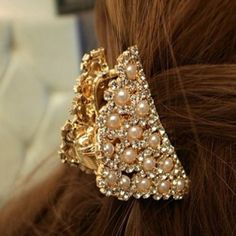 Elegant Crystal Pearl Hariclip