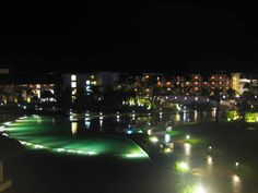 Gorgeous nightscape of Punta Cana Dominican Republic Hard Rock Palace Resort!