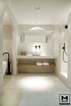 Apartment: A Stylish Apartment Designed with Black-White.- Apartment: A Stylish Apartment Designed with Black-White and Modern Interior Stylish Modern Bathroom Design 65 - Bad Inspiration, Bathroom Inspiration, Bathroom Ideas, Bathroom Taps, White Bathroom, Bathroom Furniture, Remodel Bathroom, Bathroom Cabinets, Budget Bathroom