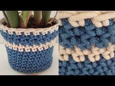 Crochet Planter Cover Free Crochet Pattern - Right Handed ♡ Teresa Restegui http://www.pinterest.com/teretegui/ ♡