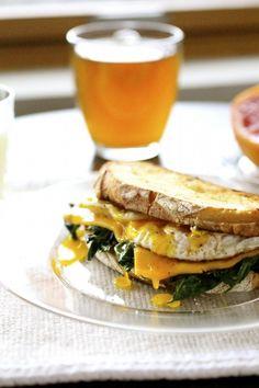 Broken Yolk and Kale Sandwich