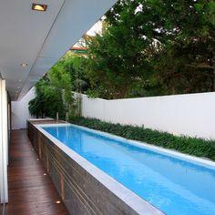 Pool on pinterest small swimming pools small pools and lap pools - Narrow pool designs ...