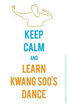 Gwangsoo robo dance @ http://littlemojoscreativekpop.spreadshirt.com #kpop #keepcalm #runningman #kwangsoo