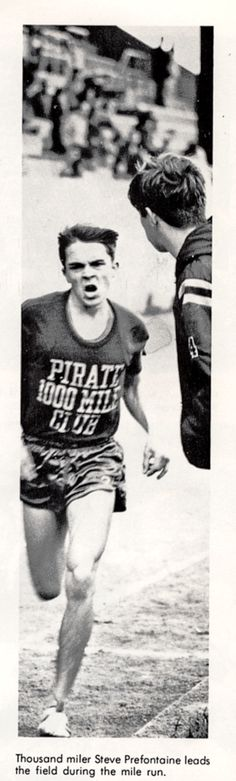 One of my favorite photos of Steve Prefontaine, from 1967 Yearbook, Marshfield High School, Coos Bay.