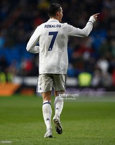 Cristiano Ronaldo of Real Madrid celebrates after scoring during the La Liga match between Real Madrid and Real Sociedad at Estadio Santiago Bernabeu on January 29, 2017 in Madrid, Spain.