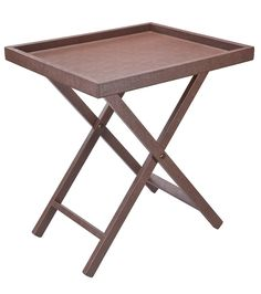 Giobagnara Leather-Wrapped Smith Tray Table