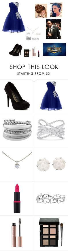 """😎😎Lalani  at the hall of fame😇😇"" by ashleighreigns156 ❤ liked on Polyvore featuring Michael Antonio, David Yurman, Effy Jewelry, Cartier, Chanel, Essence, Bobbi Brown Cosmetics and WWE"