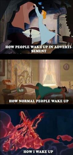 How Disney princesses wake up meme. Here are the best funny Disney memes that in. - Best of Memes Humour Disney, Funny Disney Memes, Disney Jokes, Funny Relatable Memes, Funny Jokes, Funniest Memes, Disney Facts, Disney Princess Memes, Funny Disney Princesses