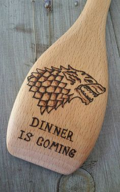 Game of Thrones Wood Burned Spoons Pyrography by IndigoSpoons