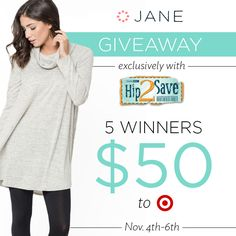 I entered the Jane.com #Giveaway for a chance to win Target gift cards!