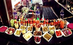 The ultimate Bloody Mary bar.