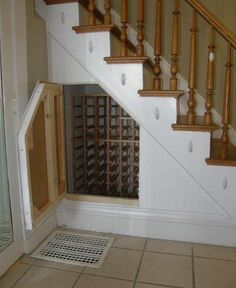 Wine storage diy small spaces under stairs 34 Ideas for 2019 Stair Storage, Wine Storage, Under Stairs Wine Cellar, Built In Wine Rack, Home Wine Cellars, Wine Cellar Design, Custom Closets, Up House, Storage Design