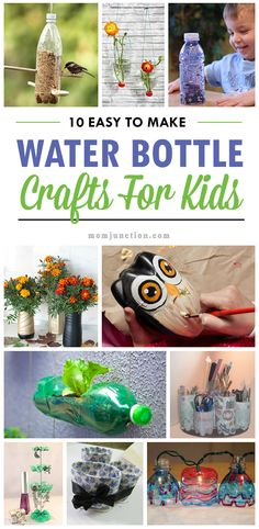10 Easy To Make Water Bottle Crafts For Your Kid:One of the best parts about making crafts is that your kid will be able to use various household items, for instance, a water bottle. So, here we look at some water bottle crafts for kids Water Bottle Crafts, Plastic Bottle Crafts, Bottle Art, Plastic Bottles, Kids Bottle, Soda Bottles, Plastic Containers, Water Bottles, Upcycled Crafts