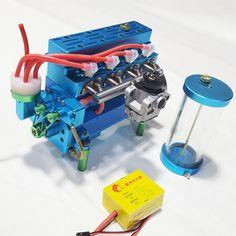 TOYAN FS-L400 14cc Inline 4 Cylinder Four-stroke Water-cooled Nitro En - EngineDIY Nitro Engine, Gasoline Engine, Rc Model, Model Car, Model Engine Kits, Science Models, Oil Pipe, Cylinder Liner, Stirling Engine