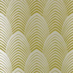 art deco chevron leaves