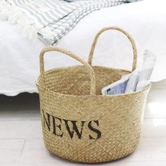 Newspapers breed in our house - I need lots of these baskets from Pale & Interesting!