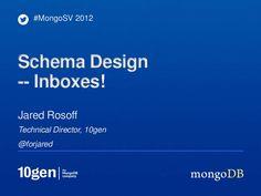 MongoDB Advanced Schema Design - Inboxes by Jared Rosoff via slideshare