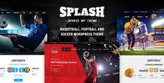 Download ThemeForest  Splash v3.4  Sport WordPress Theme for Football Soccer Basketball Baseball Sport club Free