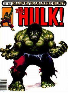 1981 - Anatomy of a Cover - Rampaging Hulk Cover by John Buscema and Joe Jusko. Marvel Comic Universe, Comics Universe, Marvel Heroes, Marvel Comics, Giant Monster Movies, Hulk Comic, Hulk Avengers, Hulk Art, John Buscema