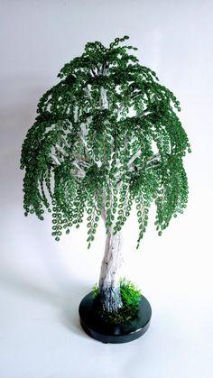 Beaded Flowers, Crochet Flowers, Indoor Fairy Gardens, Fake Trees, Fairy Garden Furniture, Wire Tree Sculpture, Wire Crochet, Craft Sale, Wire Art