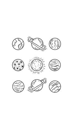 Space Drawings, Pencil Art Drawings, Unique Small Tattoo, Small Tattoos, Almond Nail Art, Small Canvas Art, Bullet Journal Mood, Sketchbook Project, Pretty Backgrounds