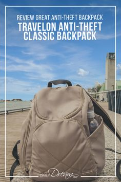 The Travelon Anti-Theft Classic Backpack is a lightweight backpack perfect for travelling, carry-on friendly with lots of the best anti-theft bag features. tips tips closet tips for clothes tips for travel Backpacking For Beginners, Backpacking Tips, Packing Tips For Travel, Packing Lists, Vacation Packing, Vacation Packages, Travel Gifts, Travel Bags, Best Travel Backpack
