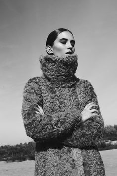 Zofia Chylak - Grey goat fur coat. This one looks so cozy, I could just burn up like the sun!