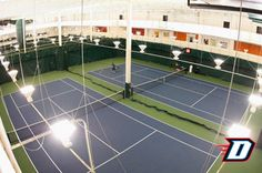 The surface of an indoor tennis court is important to the game as it ...
