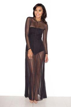 771a479610 black miss mesh dress High End Clothing Brands
