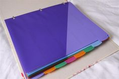 Could be used as Girl Scout leader planning binder.  A Craft a Day: Home Management Binder