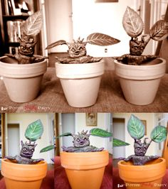 Potter Frenchy Party - Mandrake roots - Mandragora - Harry Potter DIY - racines de mandragore