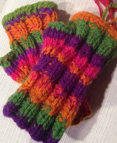 Ravelry: doodlebeck's Lucky clown handspun mitts