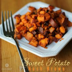Sweet potato hash  browns. You may never want regular hash browns again. The perfect side for breakfast lunch and dinner!.
